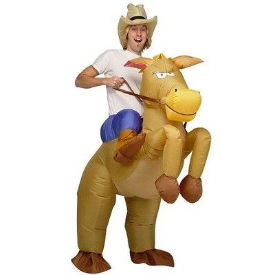 Opblaasbaar paarden kostuum