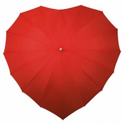 Paraplu in de vorm van een hart