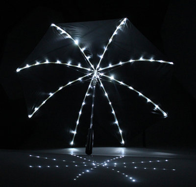 Paraplu met led verlichting sterrenhemel