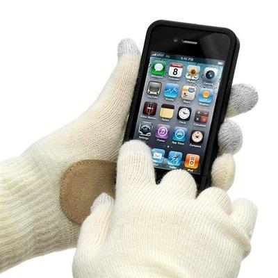 Touchscreen Handschoenen Creme