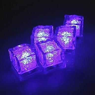 Set van paarse / violet lichtgevende ijsklontjes