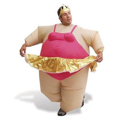 Opblaasbaar ballerina kostuum