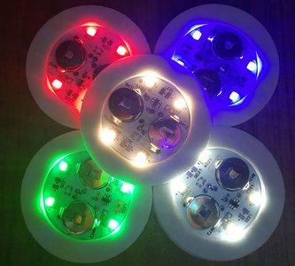 Lichtgevende onderzetters voor glazen