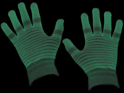 Lichtgevende glow in the dark handschoenen