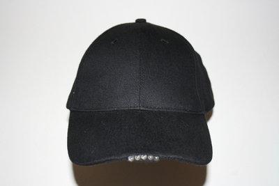 Zwarte lichtgevende Led pet