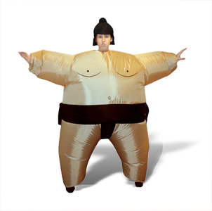 Sumo worstelaar opblaasbaar kostuum