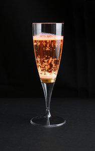 Oranje lichtgevende champagneglazen 10