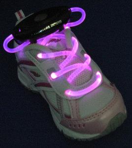 Roze lichtgevende led veters