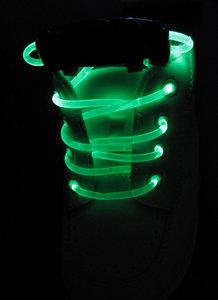 Groene lichtgevende led veters