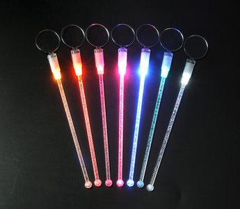 6 Roze lichtgevende cocktail roerstaafjes