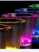 Wijnkoeler roze led verlichting